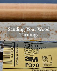 Sanding turnings is a chore. Being organized and efficient allows you to create a beautiful finish on your turning projects. Make your work look awesome.