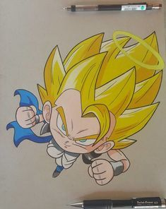 DBZ-Gogeta by thesexychurro on DeviantArt Anime Chibi, Chibi Goku, Gogeta And Vegito, Chibi Marvel, Kid Goku, Ball Drawing, Cool Dragons, Cute Pokemon Wallpaper, Dragon Ball Gt