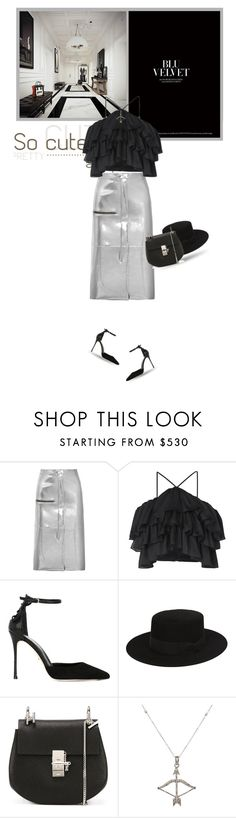 """""""Style Diary"""" by ms-perry ❤ liked on Polyvore featuring Golden Goose, Kalmanovich, Sergio Rossi, Yves Saint Laurent, Chloé and Feathered Soul"""