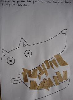 activite maternelle les loups petite section - Recherche Google Farm Animal Crafts, Pig Crafts, Book Crafts, Arts And Crafts, Animal Activities, Craft Activities, Preschool Crafts, Traditional Tales, 3rd Grade Art