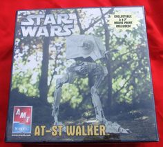 THIS IS NOW LISTED ON EBAY FOR 99 CENTS!! #StarWarsATSTSCOUTWALKER Return of the Jedi AT-ST Scout Walker New Factory Sealed  & Print #Hasbro