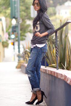 Anine+Bing+Sweatshirt+++True+Religion+Boyfriend+jeans+++Sole+Society+Elise+Pumps+++Jewel+Be+Mine+++Karen+London+-5.jpg (682×1023)