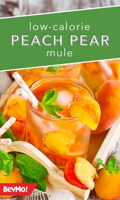 Peach, pear, mint, gin, lime, ginger beer—it's all found here! Check out this Low-Calorie Peach Pear Mule from BevMo! to get some fun and fruity new ideas for putting a spin on the classic Moscow Mule mixed drink.