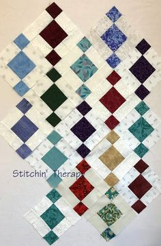 """Don't say that """"S"""" word around this part of the country......I heard the stores sold out of milk, bread, and eggs in a few hours. I... Watercolor Quilt, Scrap Quilt Patterns, Quilting Tutorials, Quilt Making, Baby Quilts, Modern Quilting, Quilt Blocks, Squares, Sewing Projects"""
