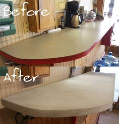 Easy step-by-step on how to Overlay a Formica countertop.  http://www.directcolors.com/resources/videos/