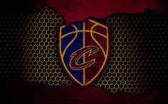 Download wallpapers Cleveland Cavaliers, 4k, new logo, NBA, Cavs, basketball, Eastern Conference, USA, grunge, metal texture, Central Division