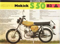 Simson S50 B2 Werbeplakatt 1979