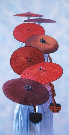 Aung Kyaw Htet 4 Buddha art monk t Art Buddha, Buddha Kunst, Buddha Painting, Inspiration Art, Art Inspo, Art Asiatique, Red Umbrella, Belle Photo, Asian Art