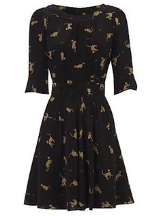 Celebrities who wear, use, or own Annabel Cat Print Dress in Silk. Also discover the movies, TV shows, and events associated with Annabel Cat Print Dress in Silk. Cat Dresses, Dress Me Up, Retro, Dress Skirt, Ideias Fashion, What To Wear, Fashion Outfits, My Style, Clothes