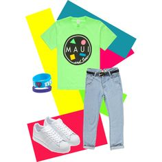 """80s tomboy"" by kate-dep-dep on Polyvore #tomboy_style #adidas #sneakers #boyfriend_jeans #80s #80s_fashion"