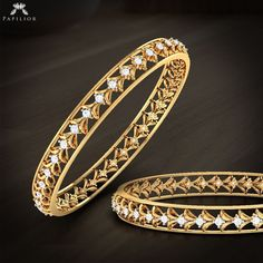 Gold Jewelry We care what we give; quality last forever. Gold Bangles Design, Gold Jewellery Design, Designer Bangles, Designer Jewellery, Gold Rings Jewelry, Swarovski Jewelry, Gold Bracelets, Jewellery Earrings, Body Jewellery