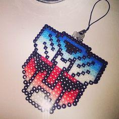 Transformers perler beads by Bead Crafts, Diy Crafts, Pixel Beads, Perler Bead Templates, Melting Beads, Bead Patterns, Xmas Gifts, Plastic Canvas, Perler Beads