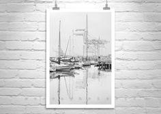 Oakland Art, Black and White, Sailboat Picture, Jack London Square, Harbors, Marina, Docks, Boats, Ships, Oakland Pride, Black and White