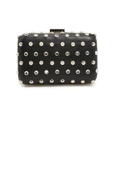 Mango Crystals and Studs Box Clutch, $79.99