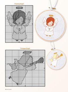 "ru / Chispitas - Альбом ""Just Cross Stitch Cross Stitch Angels, Just Cross Stitch, Cross Stitch Cards, Simple Cross Stitch, Cross Stitch Christmas Ornaments, Christmas Tree Pattern, Christmas Embroidery, Christmas Cross, Stitch Doll"