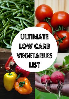 A low carb vegetables list arranged from lowest to highest carb count in 100-gram quantities. You can even search and sort the guide as you like!