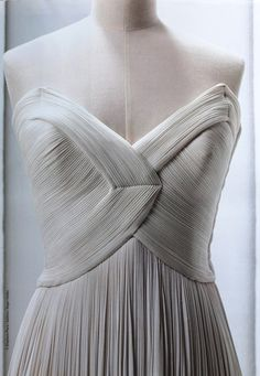 Madame Gres - Hand pleated, safe to say this is amazing craftsmanship. Still blows me away.