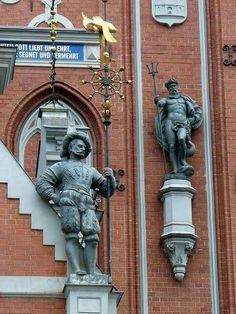House of blackheads, Riga, Lettonie,