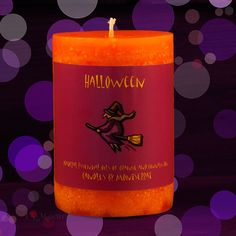 Halloween Flying Witch Candle 3x4
