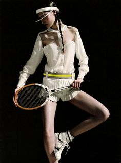 moldavia: Natalia Bilesky in Marie Claire Brazil August 2011 by Gui Paganini Sport Style, Sport Chic, Tennis Fashion, Sport Fashion, Fitness Fashion, Sport Editorial, Editorial Fashion, Mode Tennis, Jean Louis David
