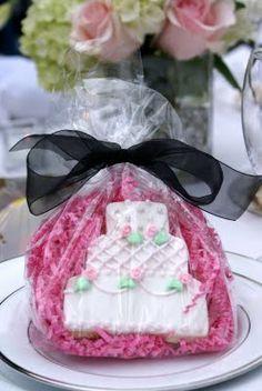 Jennifer's Wedding Cookie Favors