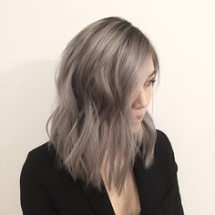From black virgin hair to a rooty grey #hair #color #haircolor #grey #greyhair…
