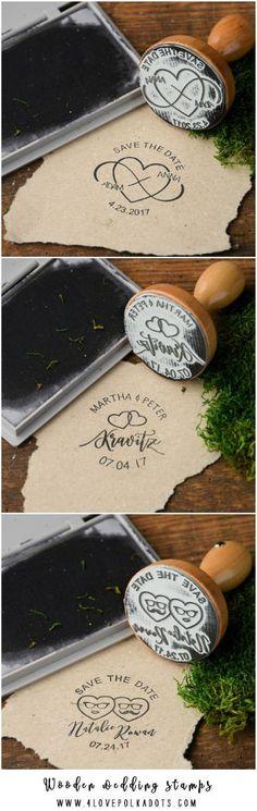 Wooden wedding stamps 4lovepolkadots #sponsored