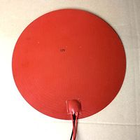 12V 300W 300mm Round Silicone Rubber Heater Pad