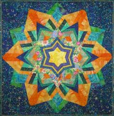 A beautiful example of Ricky Tims' kaleidoscope quilt; going to try one this summer