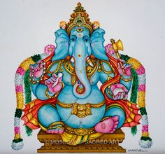 Manivelu A. | Forms of Devotion Shiva Art, Ganesha Art, Lord Ganesha, Indian Traditional Paintings, Om Art, Detailed Paintings, Boy Illustration, Tanjore Painting, Learn Art