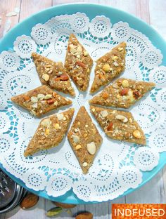 Gul is jaggery, pohe is flattened rice and vadi is burfi. Pohe being one of Lord Krishna's favorite foods, are offered to Him for the Janmashtami festival, which celebrates His birth. Jain Recipes, Indian Food Recipes, New Recipes, Favorite Recipes, Recipies, Indian Desserts, Indian Sweets, Indian Snacks, Easy Cookie Recipes
