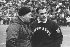 Coach Duffy Daugherty (Michigan State) and Coach Ara Parseghian
