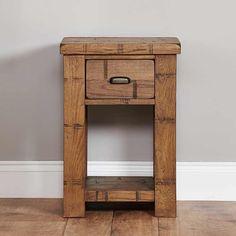 Heyford Rough Sawn Oak Lamp Table -  - Bedside Table - baumhaus - Space & Shape - 3
