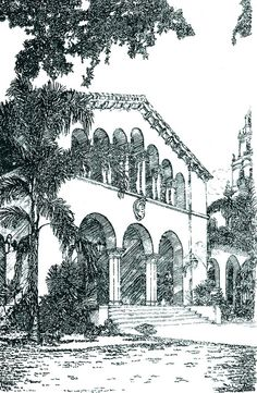 A Sketch of Annie Russell Theatre by Rollins College, via Flickr