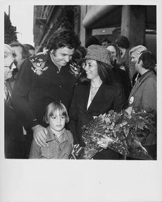 Johnny Cash and June Carter with their son John Carter Cash attending the ceremony where Johnny was presented with a star on on the Hollywood Walk of Fame at 6320 Hollywood Blvd