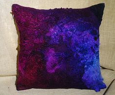 Felted Pillow coverFelted Cushion cover Wool Felt by StewartNatali