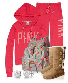 coral lounge outfit from Victoria's secret Lazy Day Outfits, Pink Outfits, Pretty Outfits, Winter Outfits, Casual Outfits, Cute Outfits, Swag Outfits, School Outfits, Haley James Scott