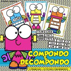 Jogo pedagógico para trablhar conceito matemático de composição e decomposição de números Comics, 30, Reading Activities, Literacy Activities, Cartoons, Comic, Comics And Cartoons, Comic Books, Comic Book