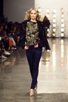 New Zealand Model Penny Pickard models for Adrian Hailwood at NZ Fashion Week 2013.