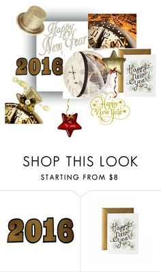 """""""Happy New Year Everybody"""" by ramiza-rotic ❤ liked on Polyvore featuring Lucky Star and Rifle Paper Co"""