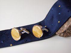 Brightbrown Timer Wood Cufflinks Silver Plated by LiteratoShop, £10.00