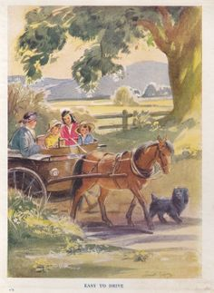 """IIlus. Eileen Soper, from """"Caravan Holiday"""" by Elizabeth Gould, published by Blackie, undated, c1930s/1940s."""