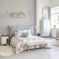 Hoes voor hoofdeinde bed 180 cm breed, zwart | Maisons du Monde