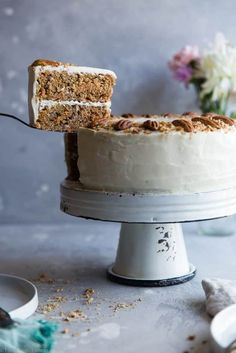 Low Carb Sugar Free Carrot Cake (egg whites) | food faith fitness