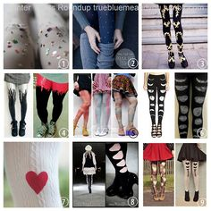 Roundup of 9 Winter DIY Tights. Confetti Tights from...