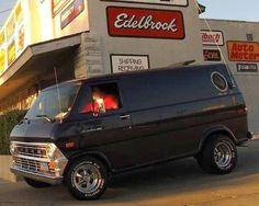 Custom 70's Ford Econoline Van.