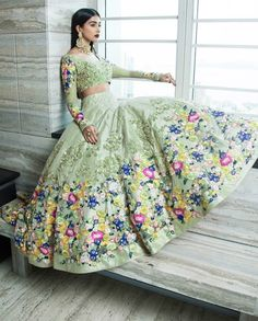 Jiofab have special collection of wedding and designer lehenga with best rates. Buy online lehenga with best quality in India,USA,UK,Canada and worldwide. Order this neeta lulla tafeta silk wedding designer lehenga for mehndi, sangeet and wedding. Indian Lehenga, Silk Lehenga, Bridal Lehenga, Lengha Choli, Sarees, Punjabi Lehenga, Anarkali Suits, Punjabi Suits, Lehenga Designs
