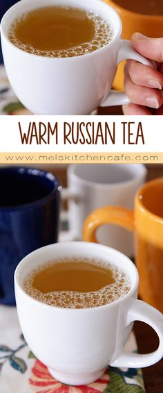 This Warm Russian Tea is a wonderful blend of orange and lemon and warm notes of vanilla and almond.