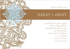 Affinity II Couture Invitation - intricate swirl accents on left and bold stripe highlights couple's names