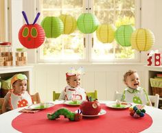 "A ""Hungry Caterpillar"" birthday party! too cute!"